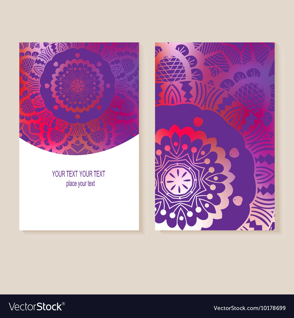 Card with geometric designs