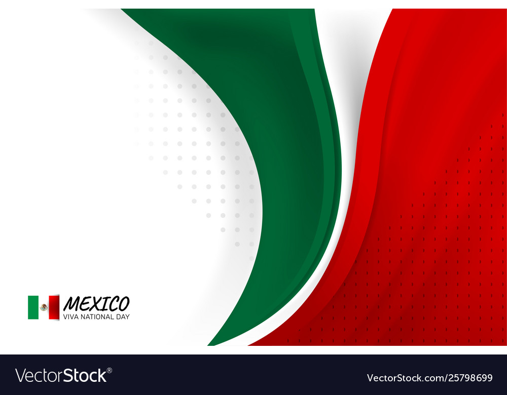 Mexico Flag Color Background Royalty Free Vector Image