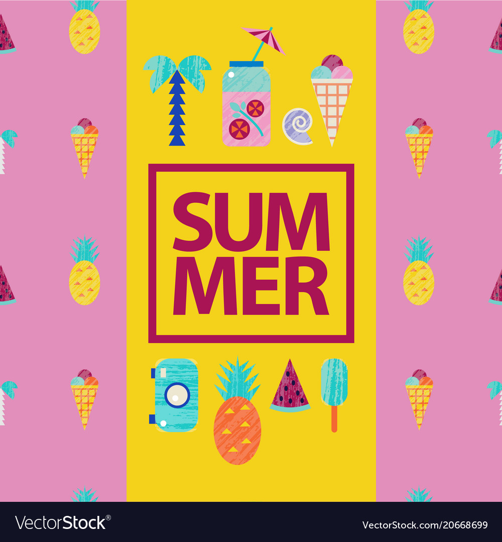 Summer colorful travelling