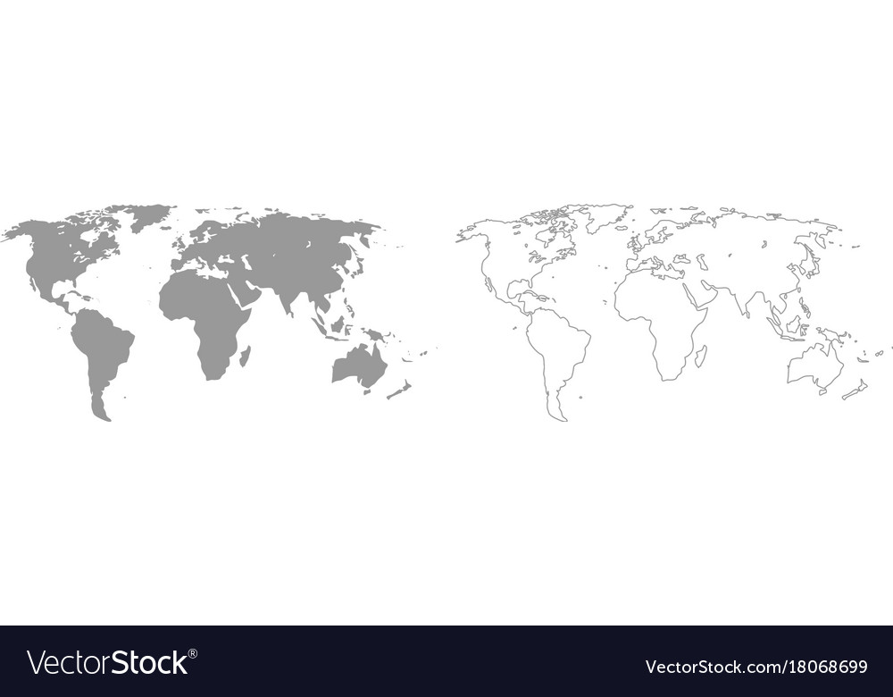 World map grey set icon Royalty Free Vector Image