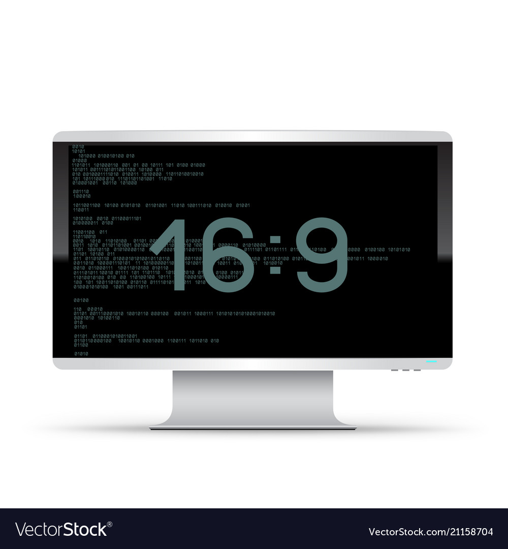 16 to 9 monitor white background