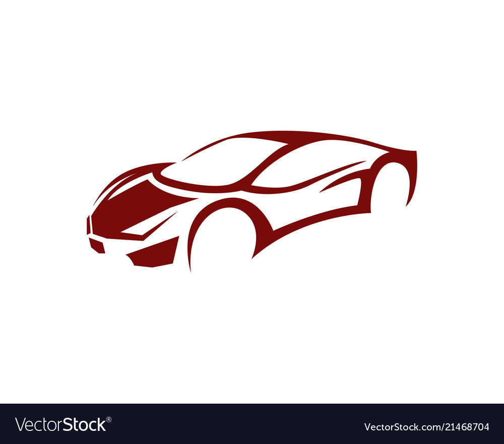Auto Car Logo Template Icon Royalty Free Vector Image