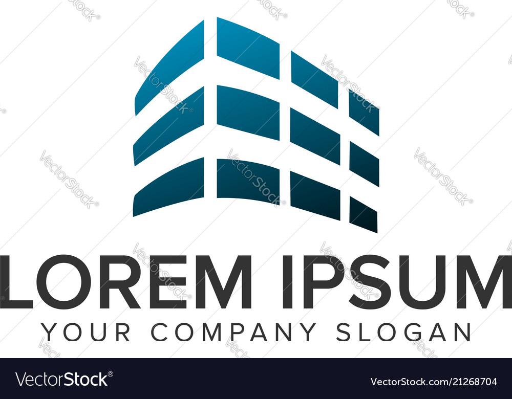 Building architectural logo design concept