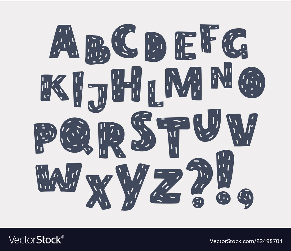 English alphabet black and white lettering