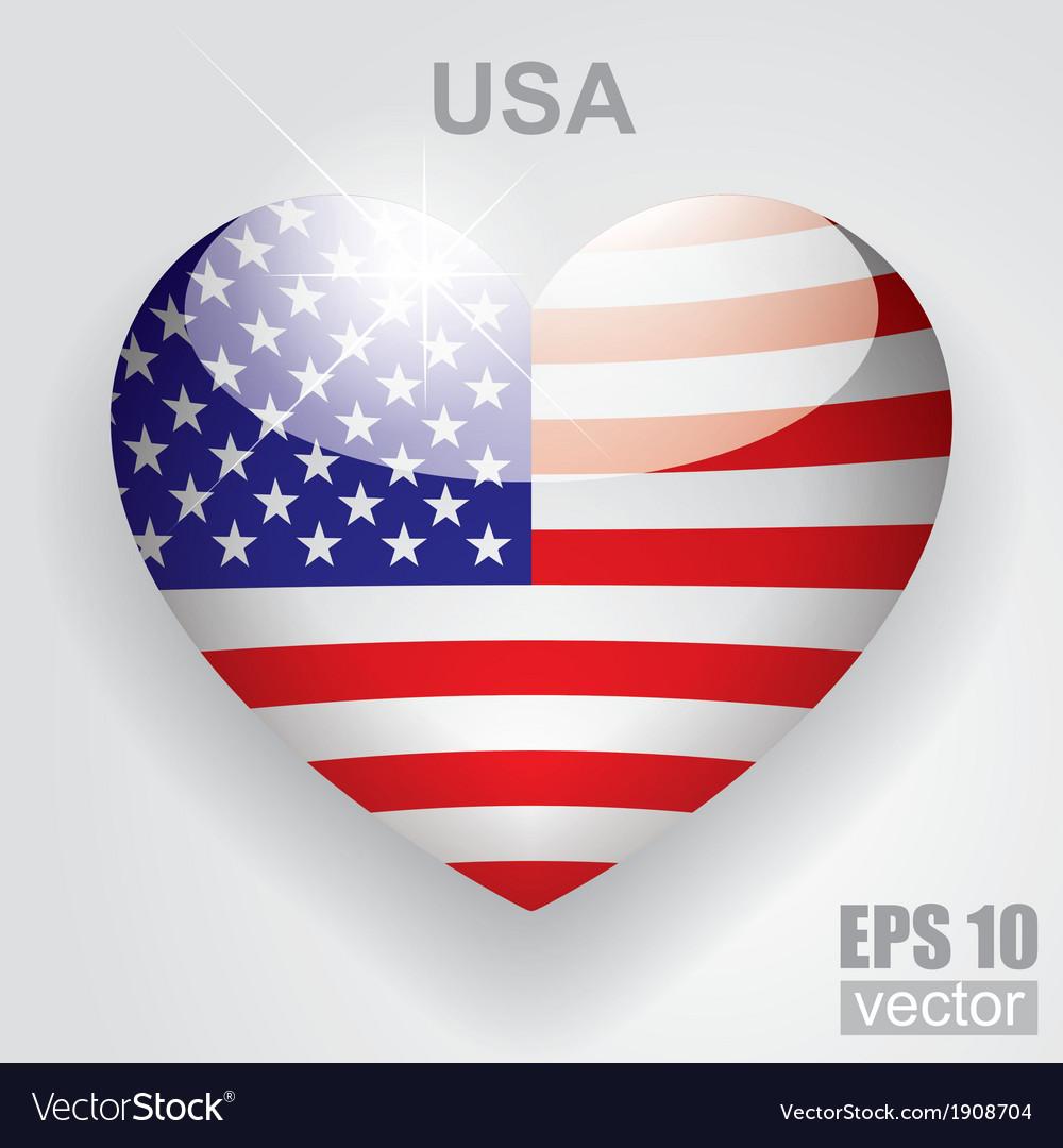 Glass heart flag