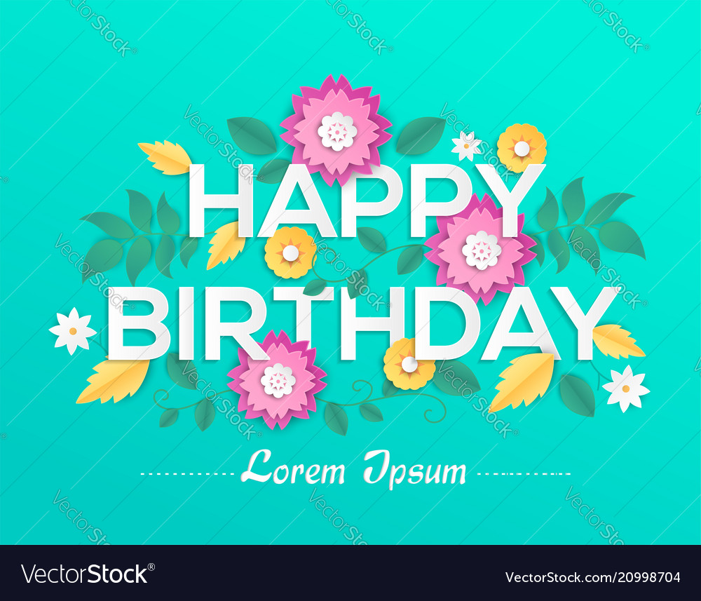 Happy birthday - modern colorful