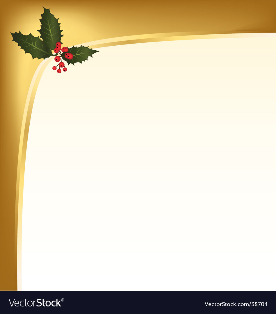 Holly berry background vector image