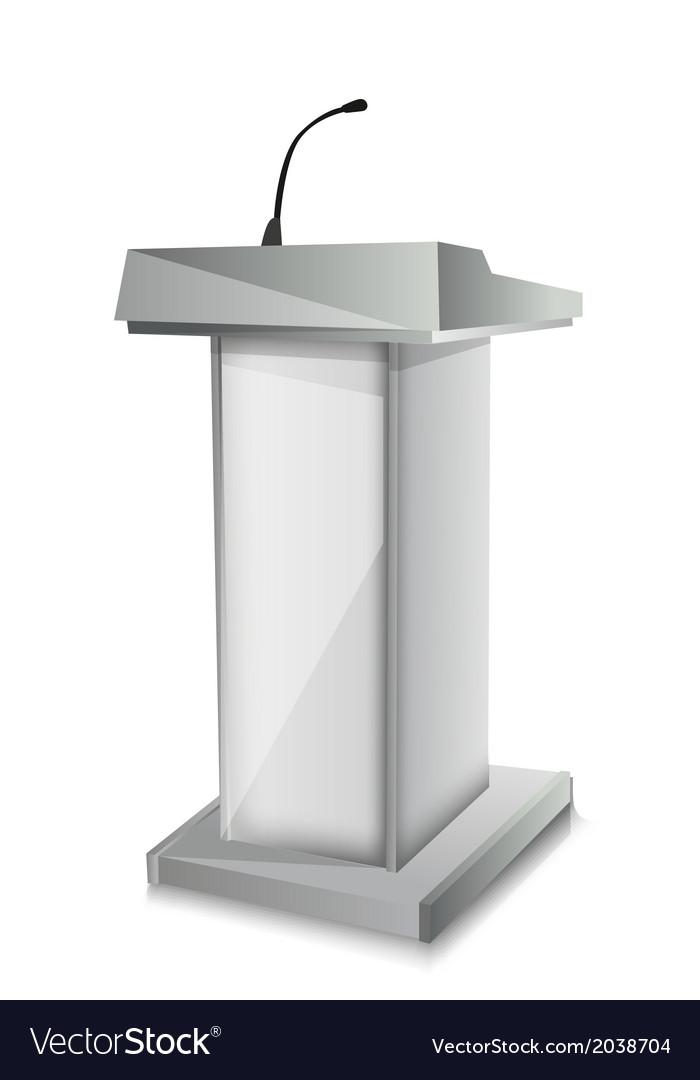 Podium with mic vector image