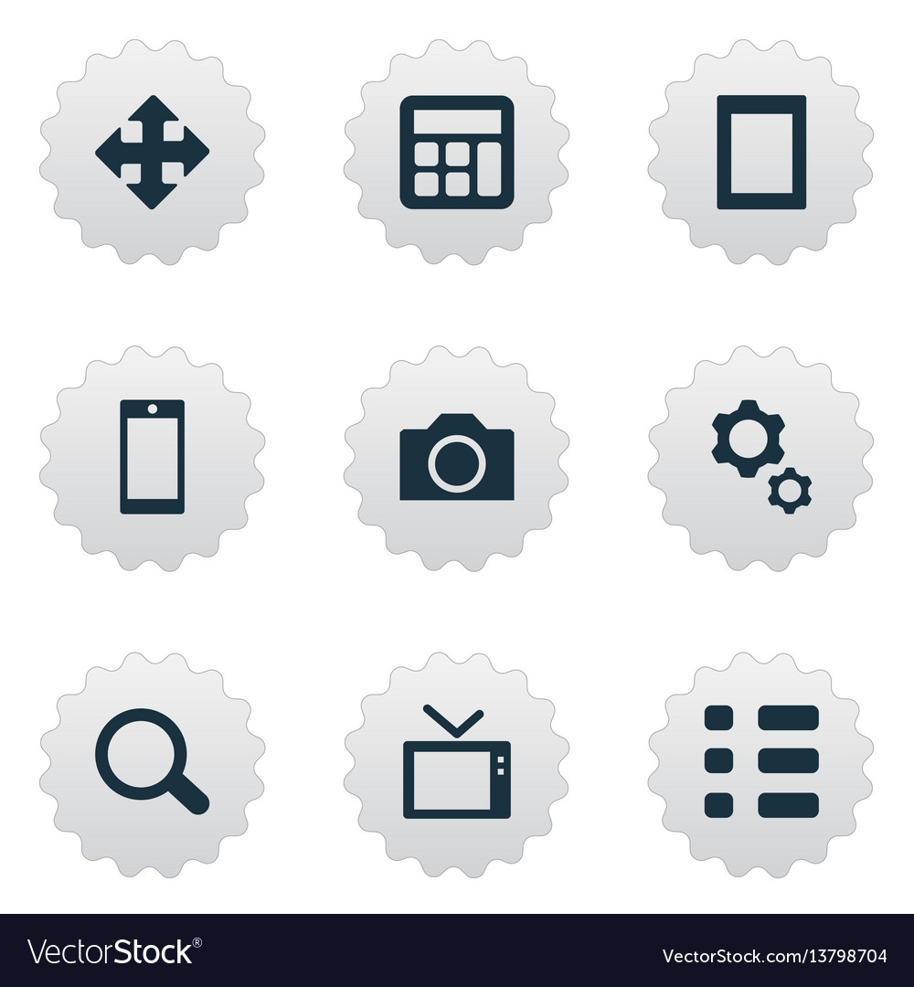 Set of simple technology icons