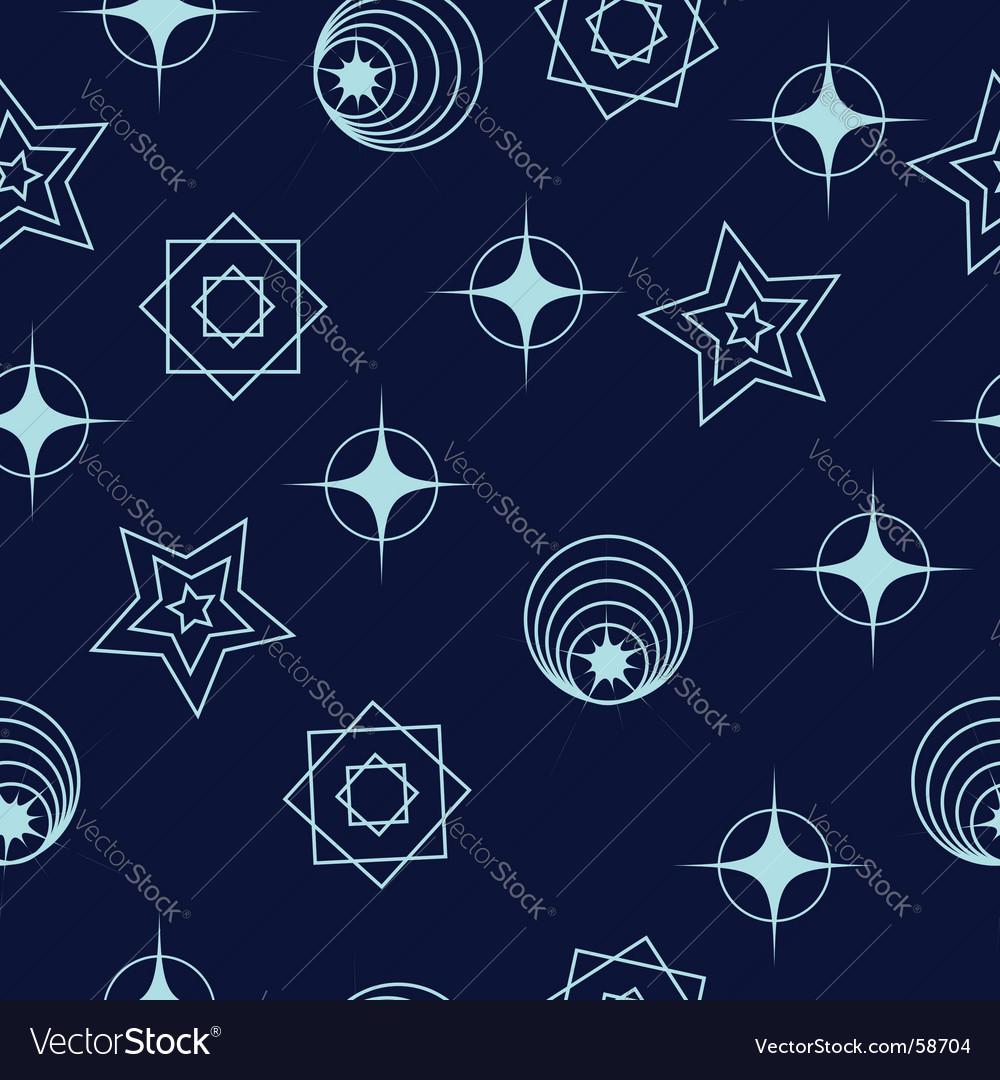 Space geometric vector image