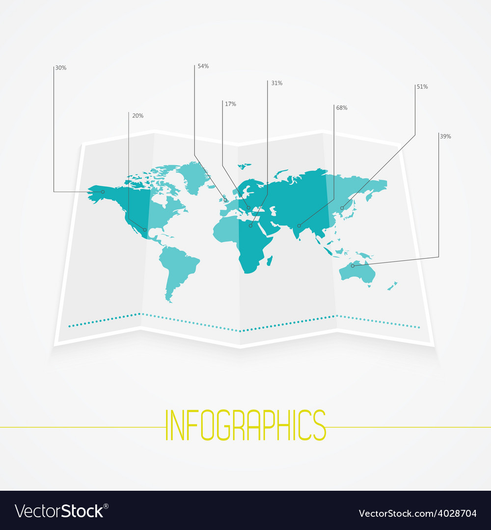 World map infographics royalty free vector image world map infographics vector image gumiabroncs Gallery