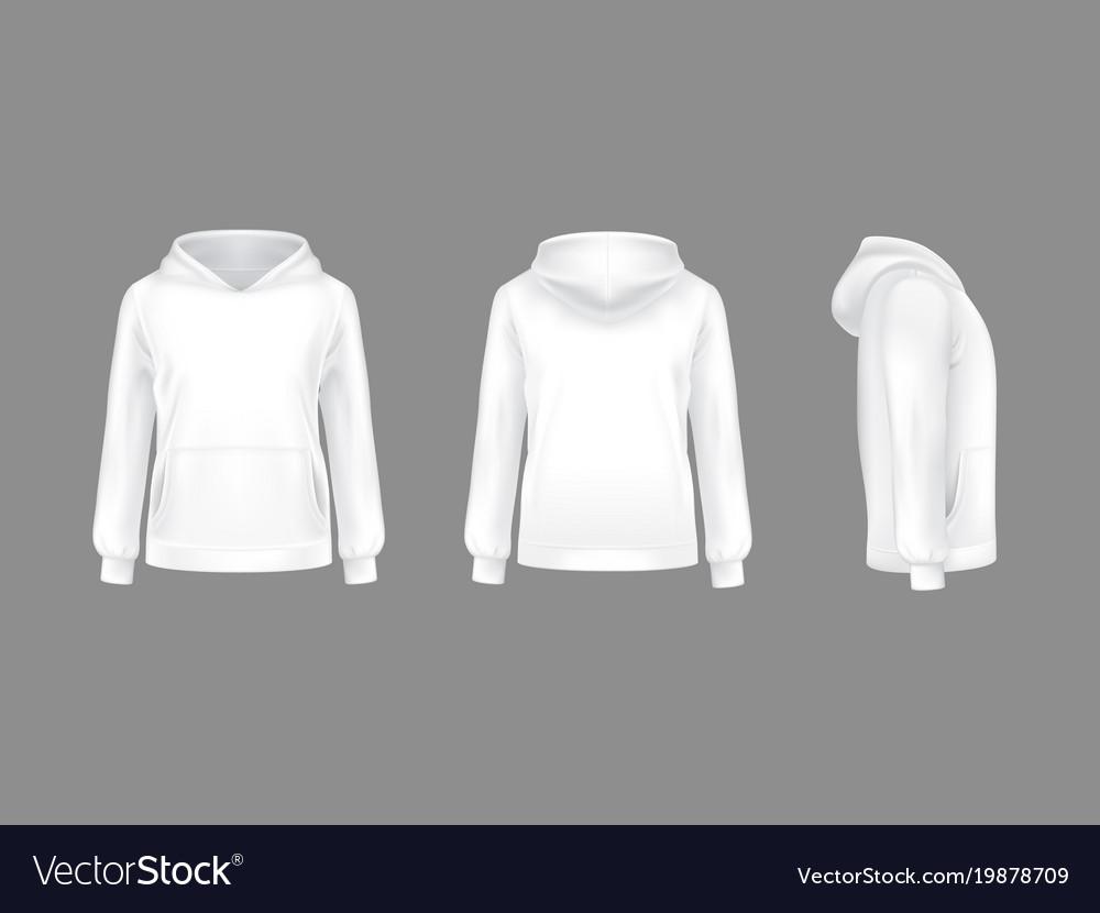 3d realistic hoodie sweatshirt white mockup