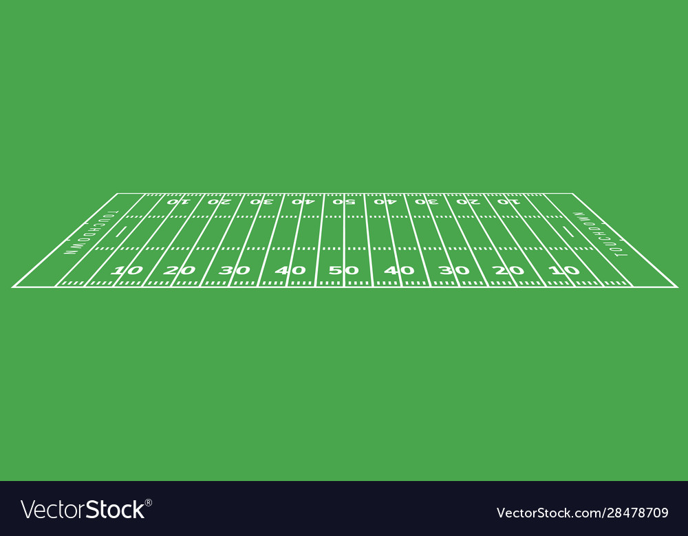 American football field background rugby stadium