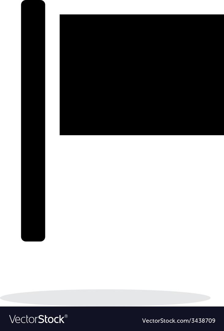 Flag iicon on white background