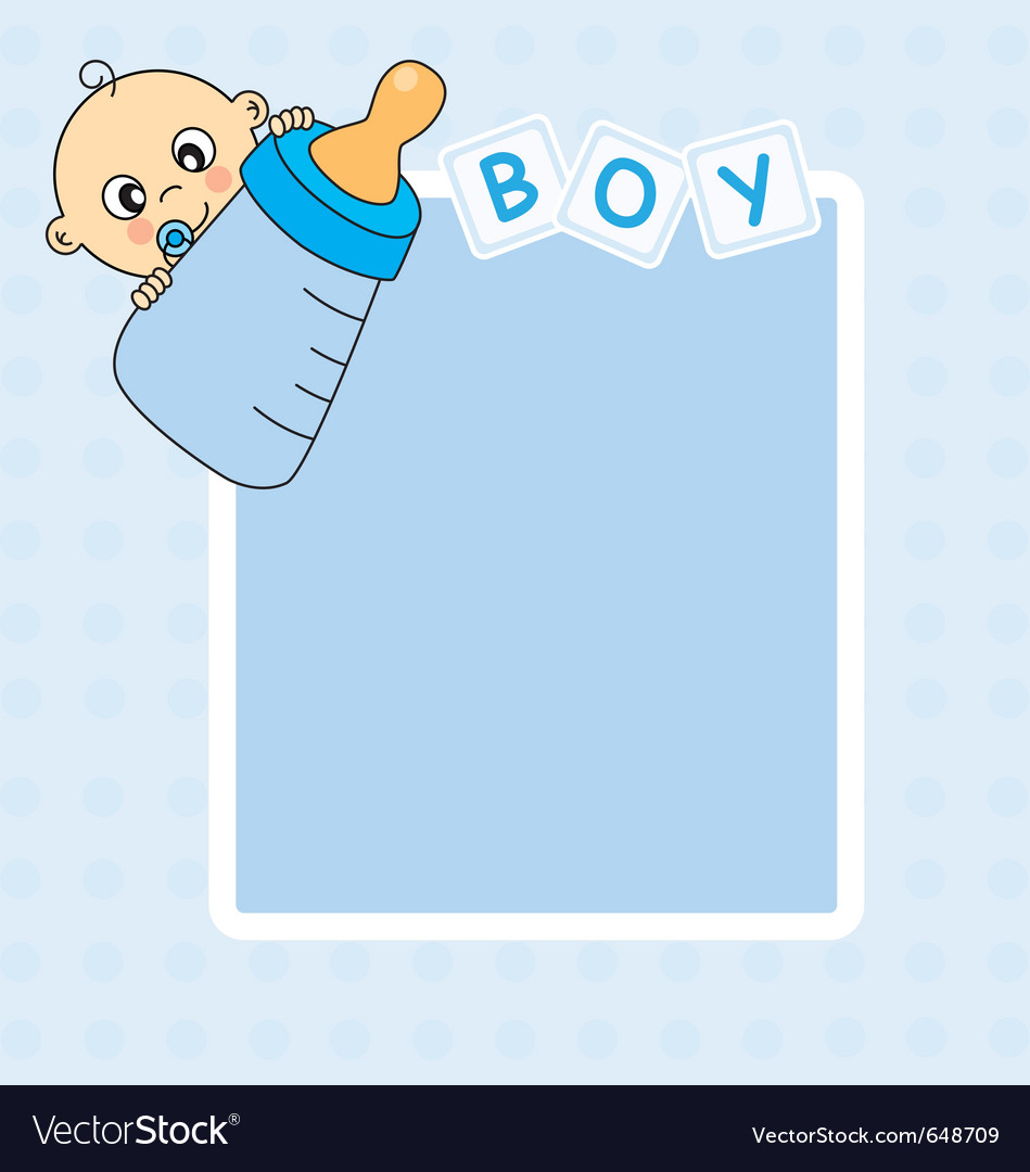 8e4a1f77230a Frame baby boy Royalty Free Vector Image - VectorStock