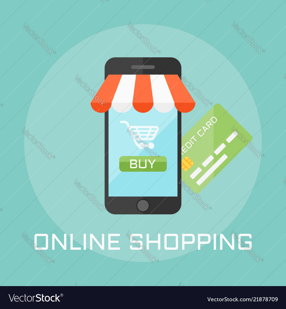 Online shop flat design style