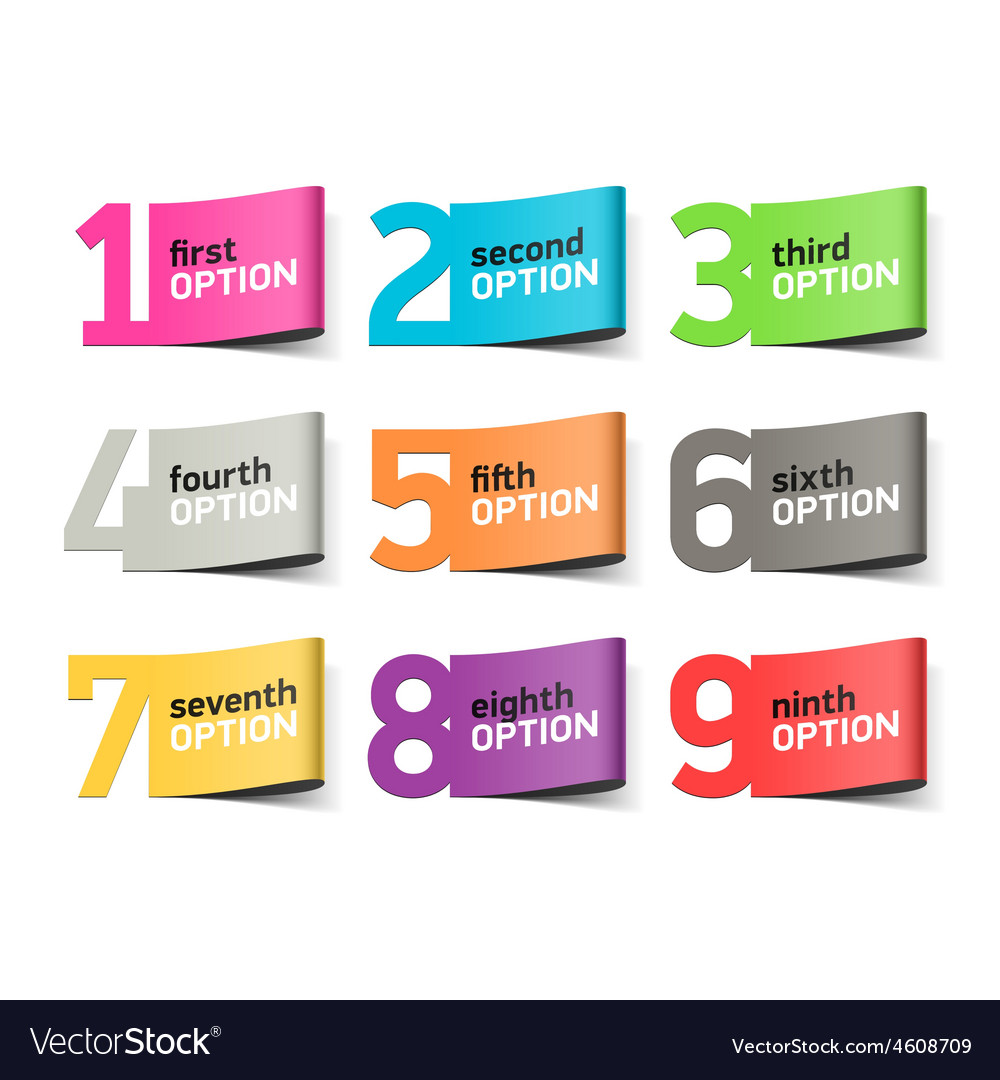 Options numbers infographics element vector image