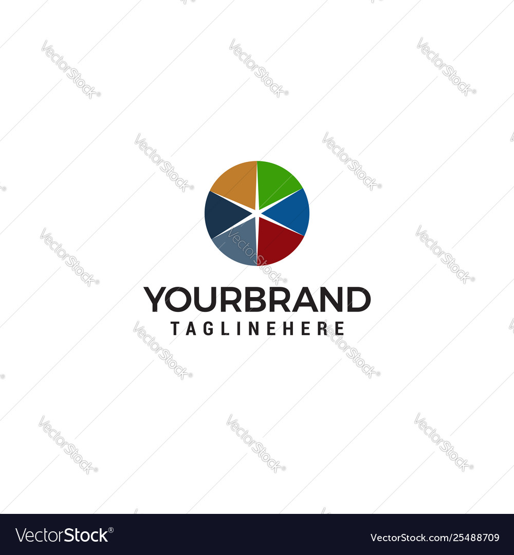 Spark star colorful logo design concept template