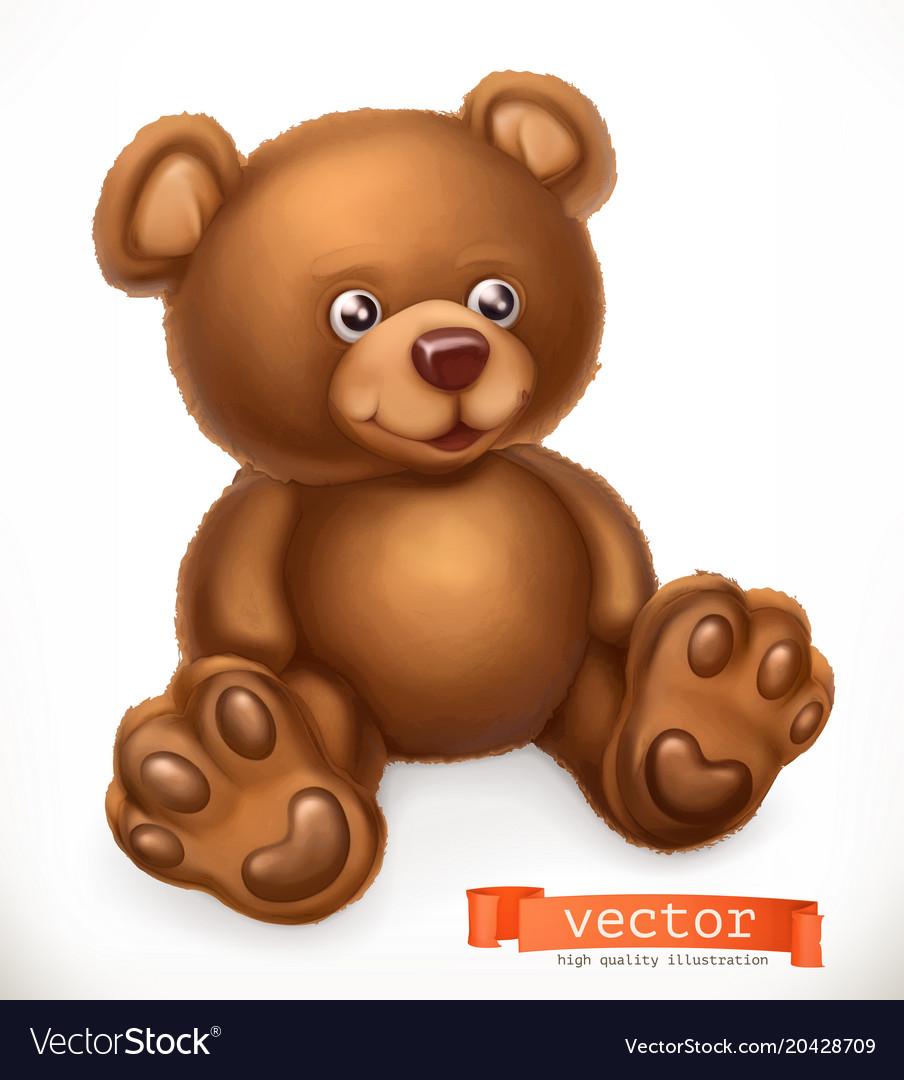 Toy bear 3d icon