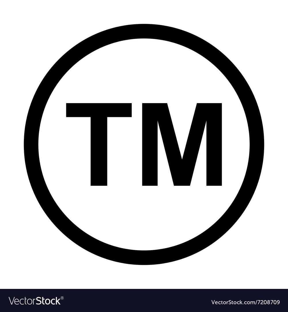 trademark symbol icon royalty free vector image