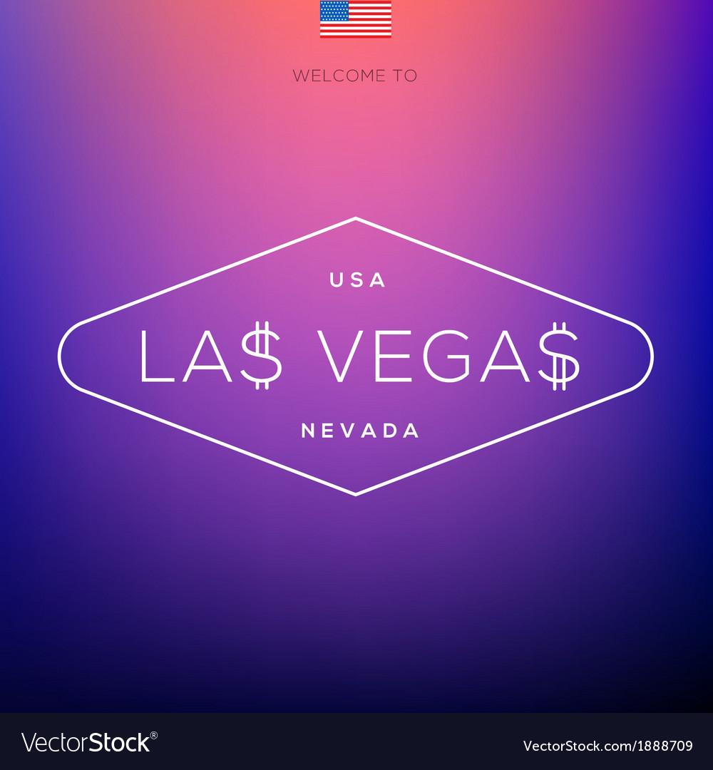 World cities labels - las vegas