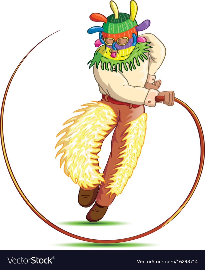 Cartoon man with whip