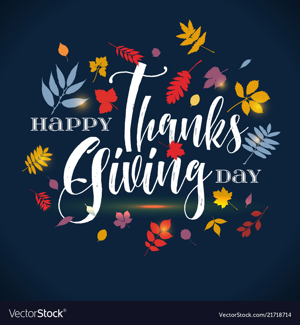 Thanksgiving day greeting lettering phrase