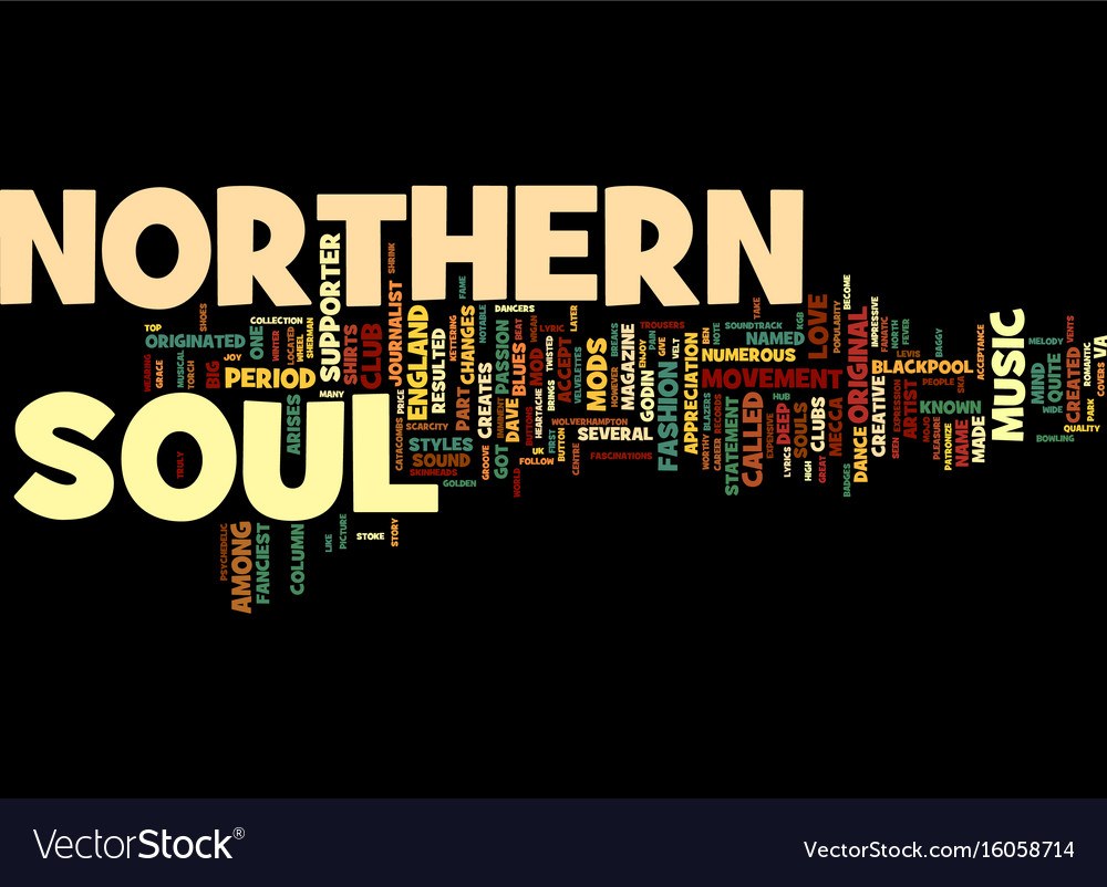The northern soul music from england text