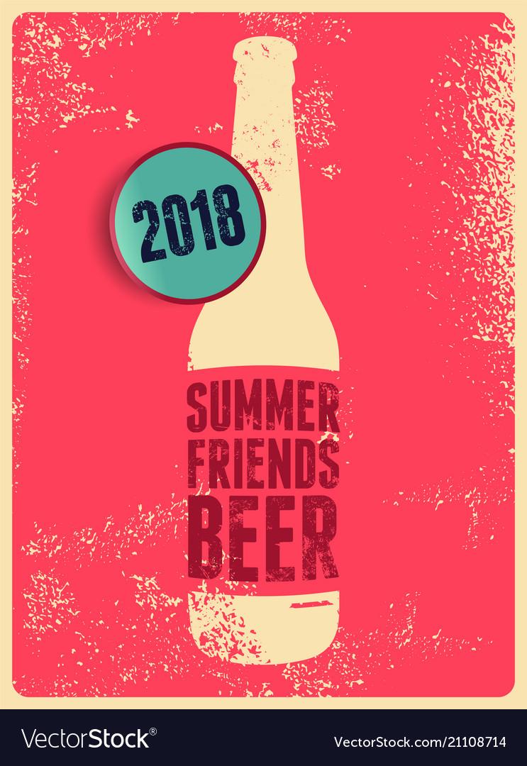 Typographic vintage grunge beer poster