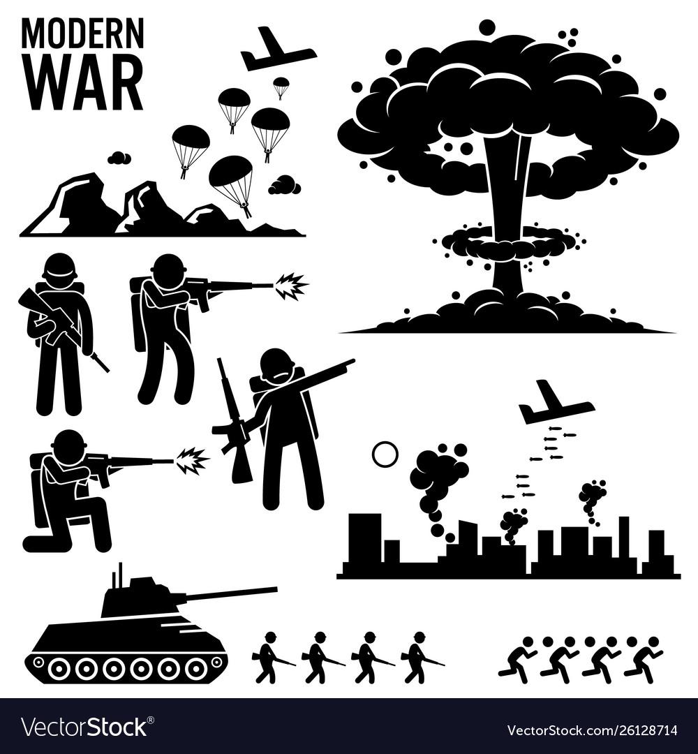 War modern warfare nuclear bomb soldier tank