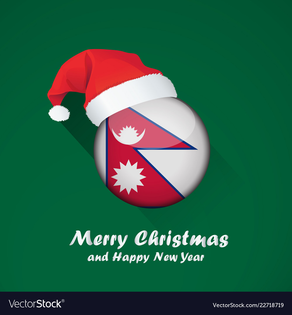 Flag Of Nepal Merry Christmas And Happy New Year