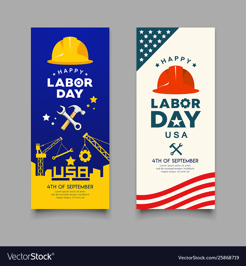 Happy labor day engineer cap with wrench hammer