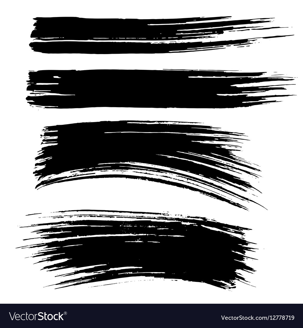 Ink Brush Strokes Background Royalty Free Vector Image
