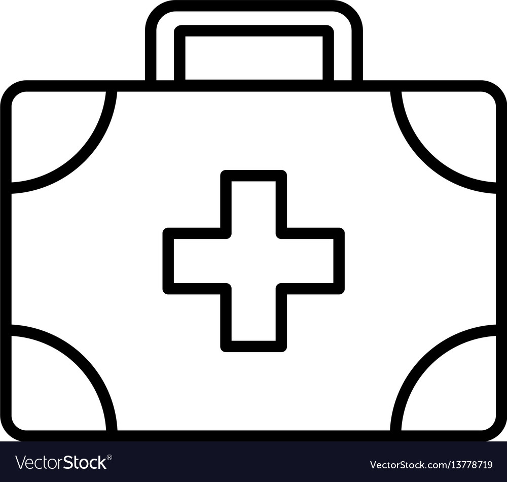 Medical assistance outline icon