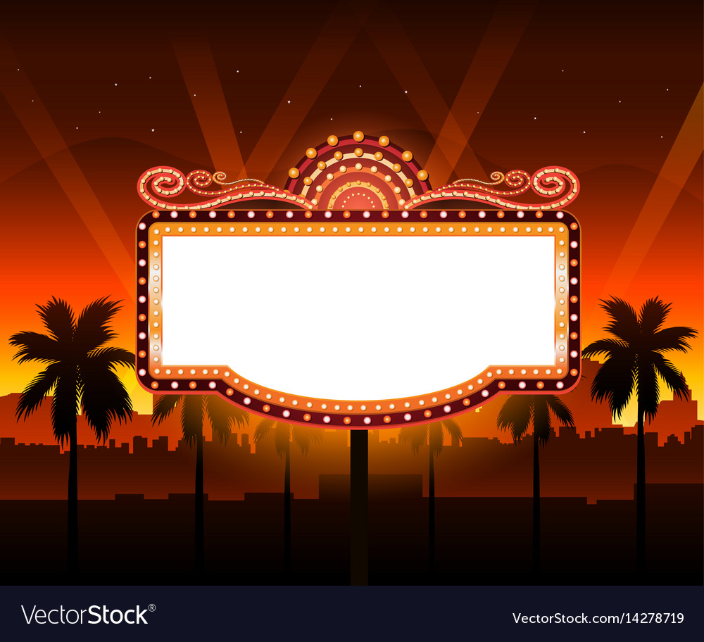 now showing theater movie banner sign royalty free vector