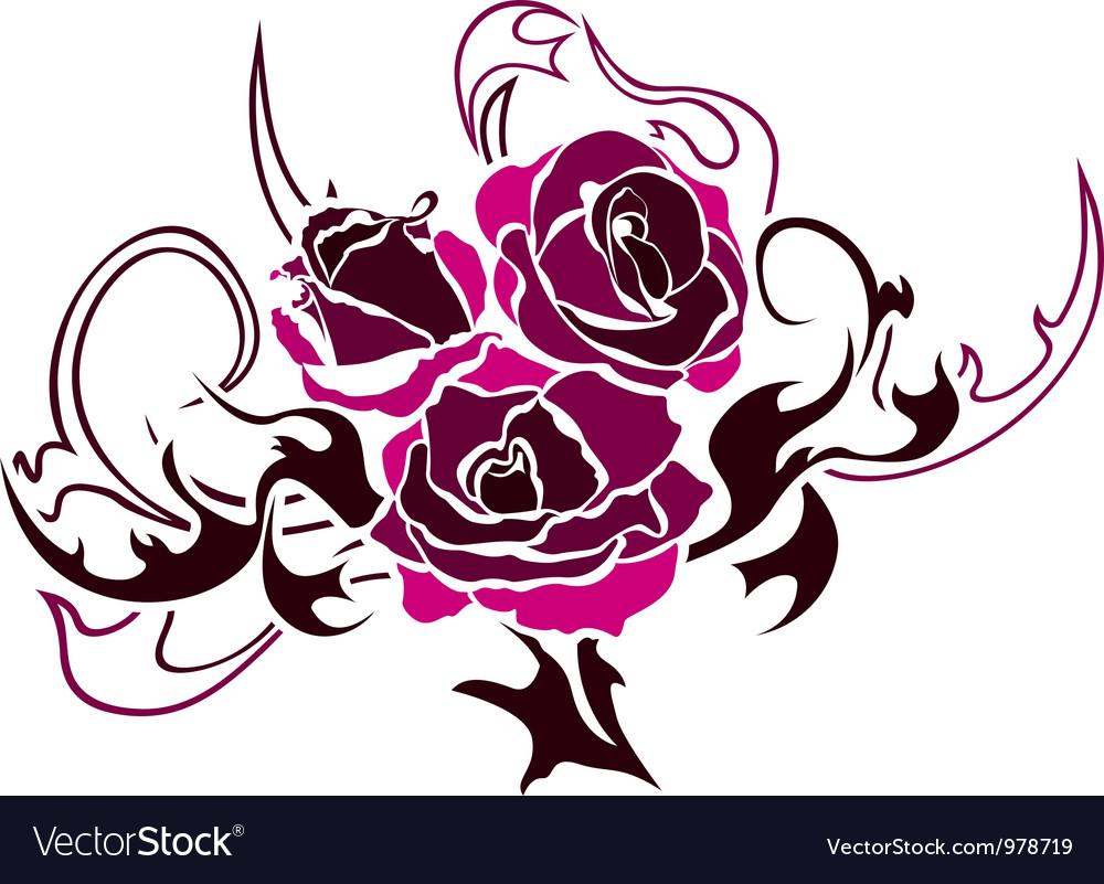 Rose Stencil Design - Best Tattoo Ideas