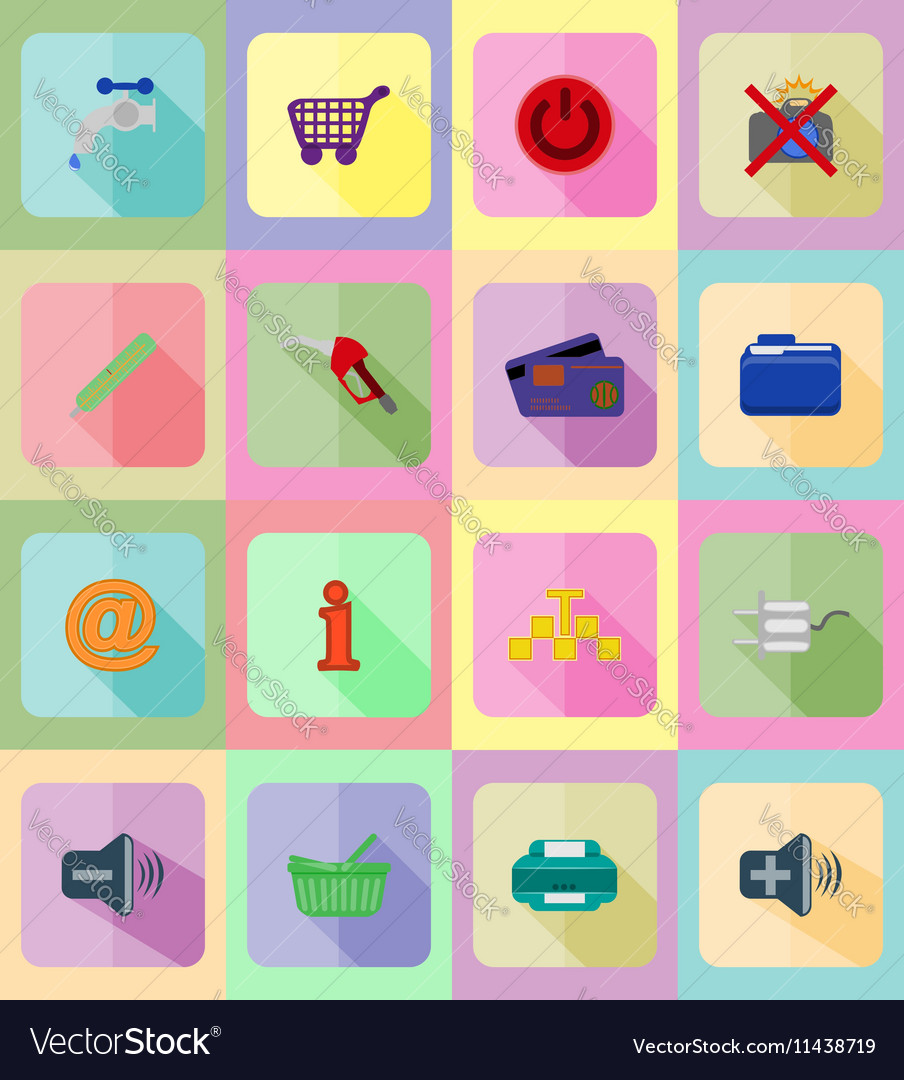 Service flat icons 40 vector image