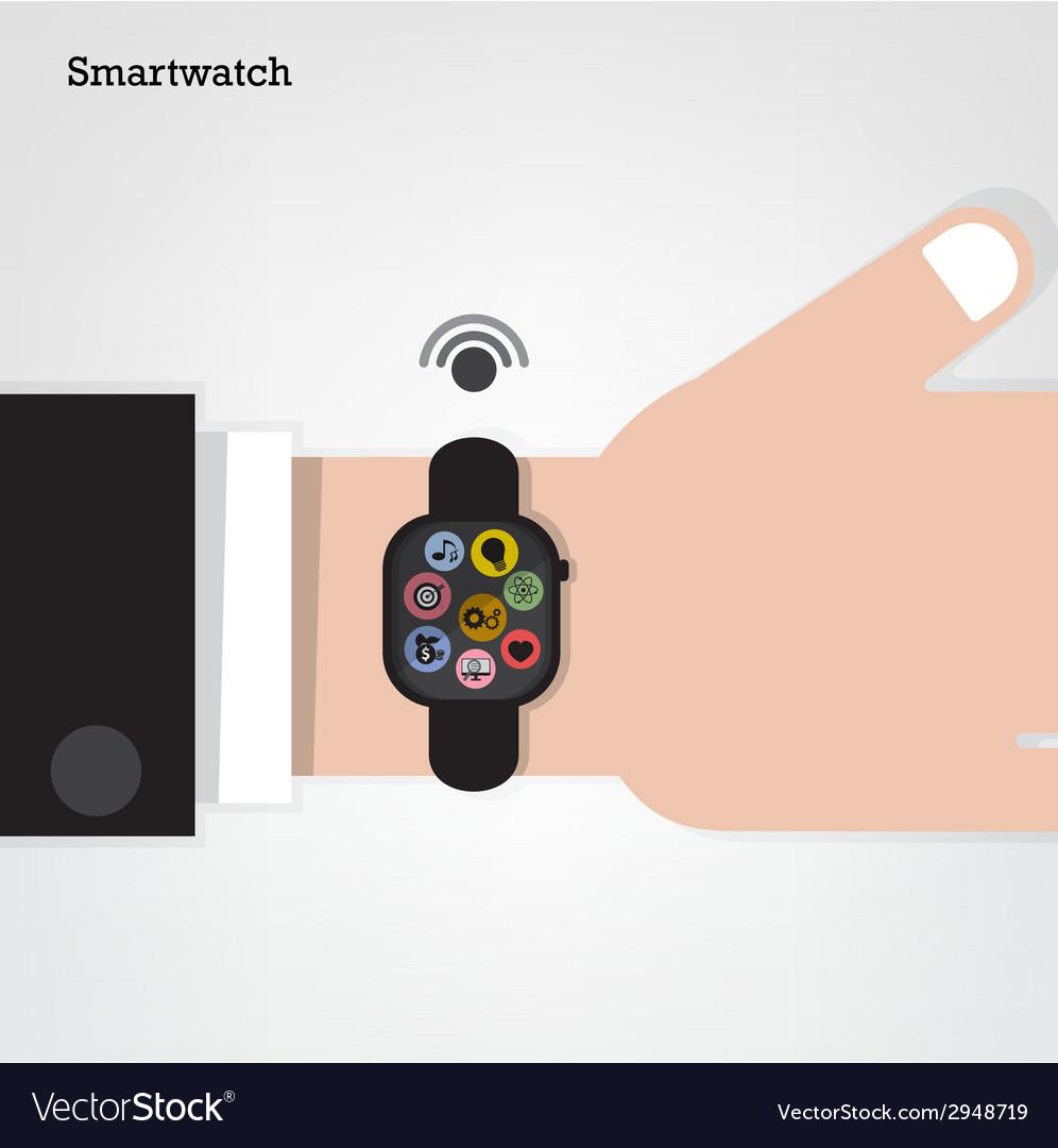 Smartwatch on businessman hand