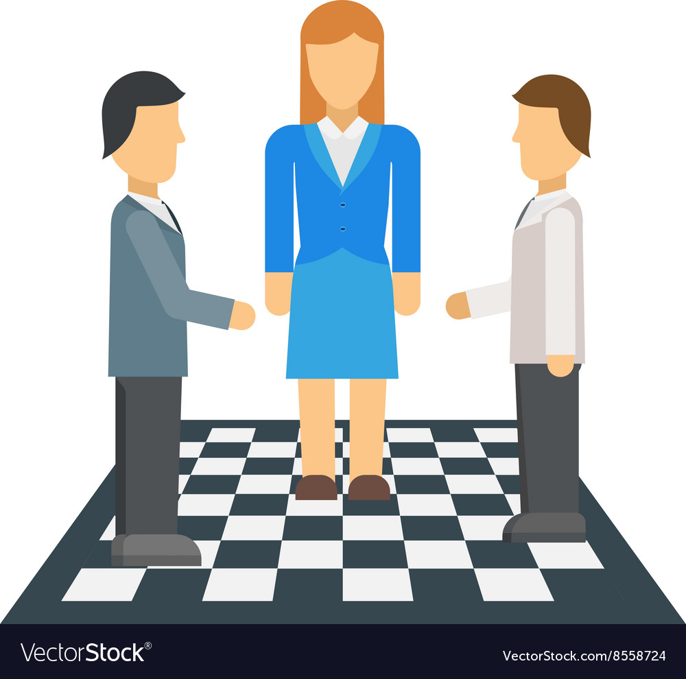 Business people at the negotiating table in office vector image