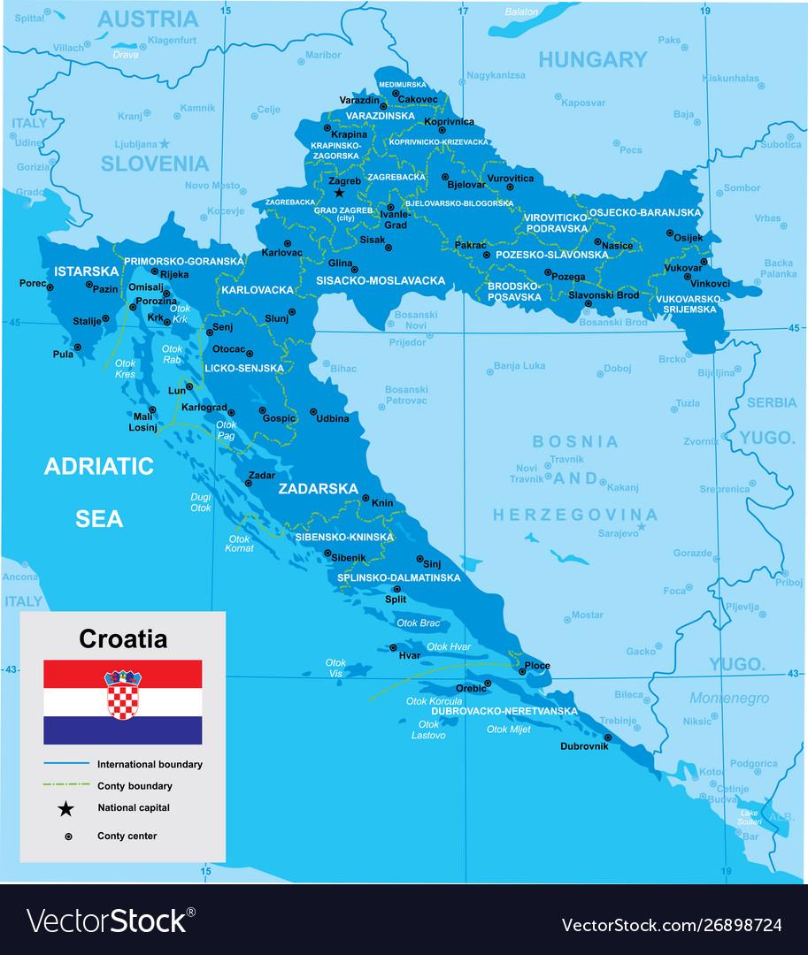 Map croatia