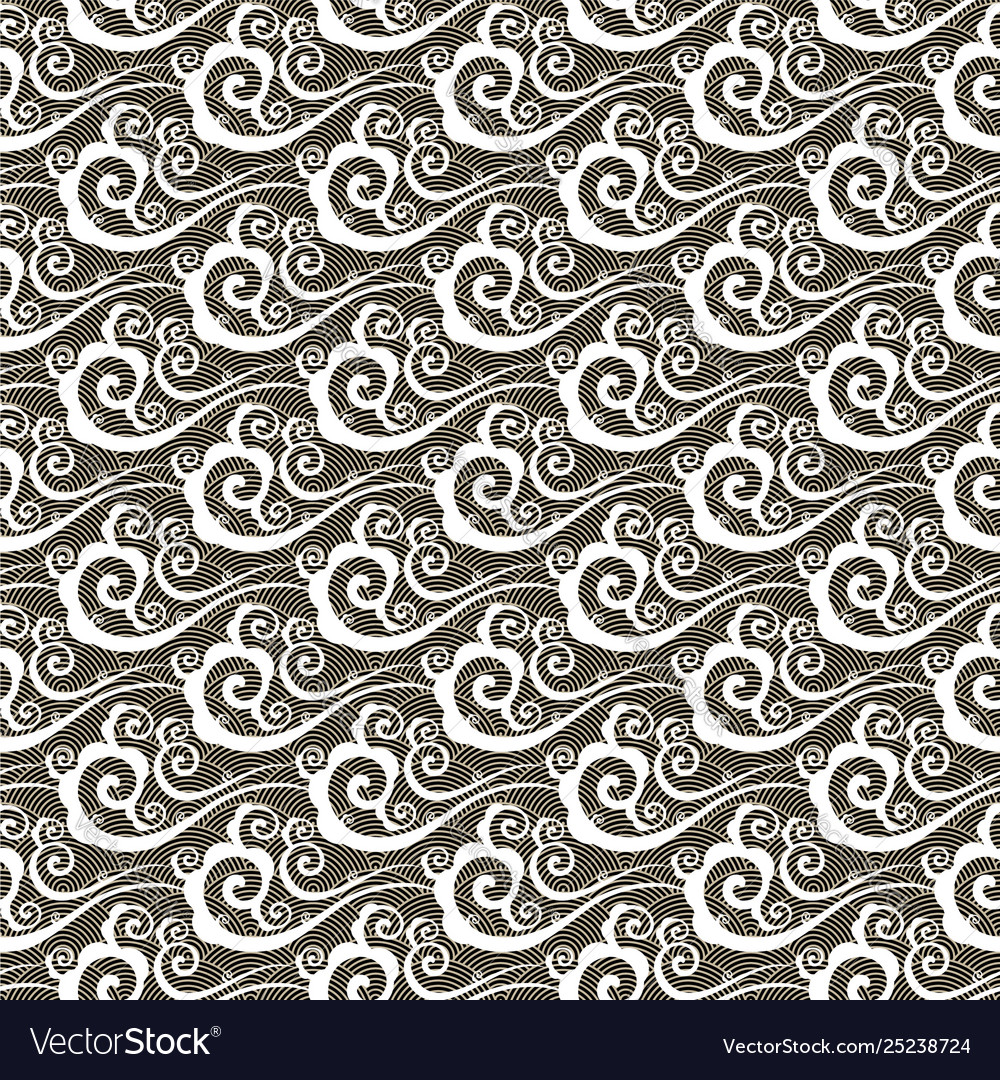 Seamless pattern with clouds in chinese style