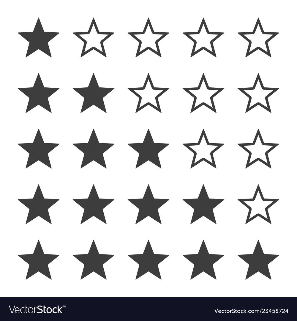 Star ratting icons