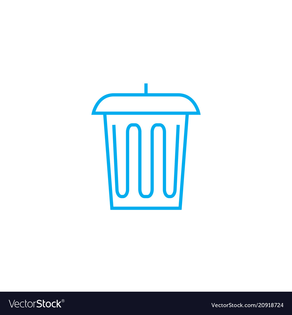 Trash can linear icon concept trash can line