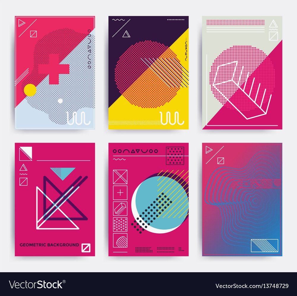 Bright design poster vector image