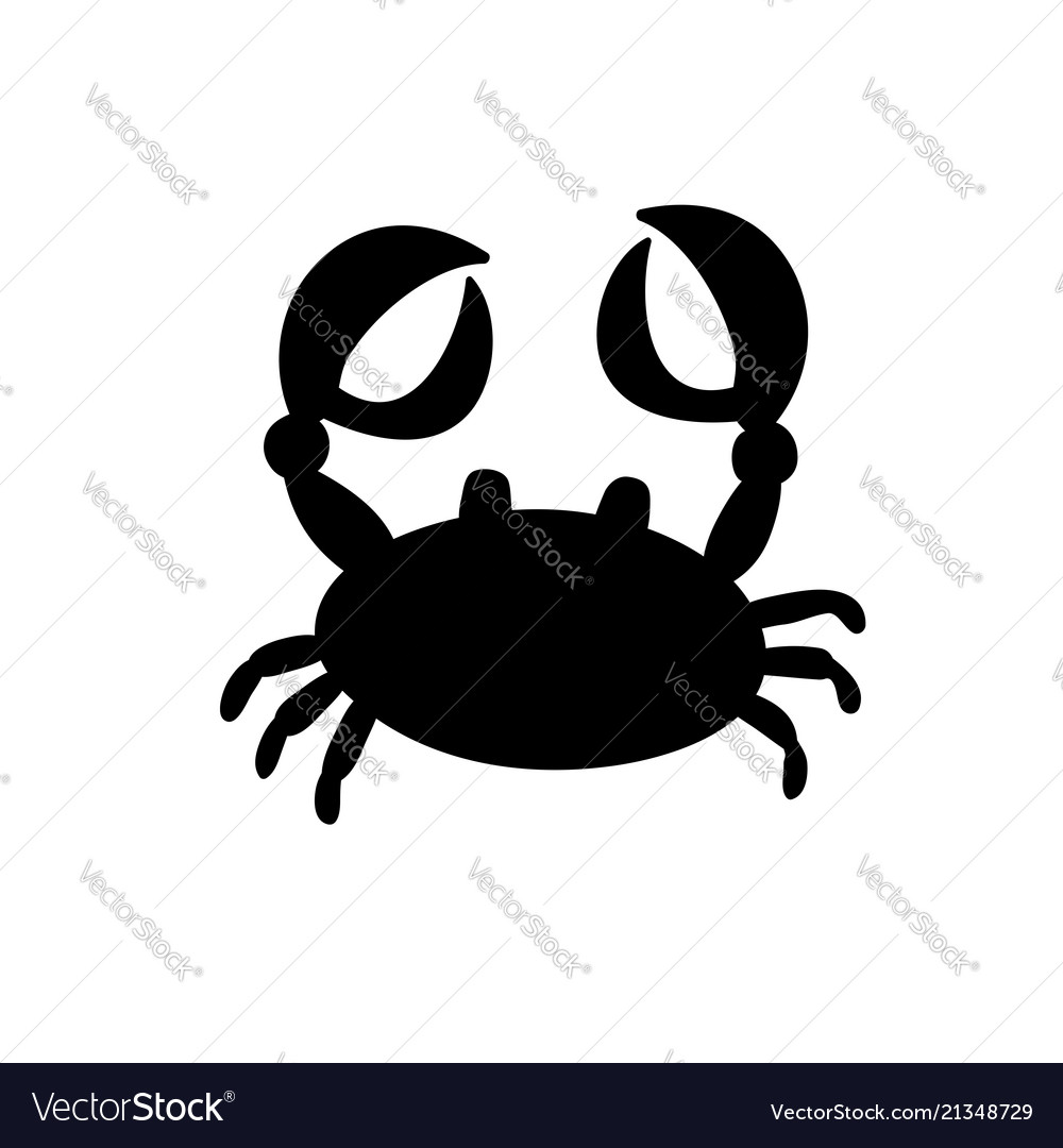 Crab or cancer icon isolated on white background
