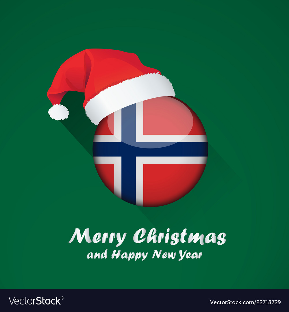 Merry Christmas In Norwegian.Flag Of Norway Merry Christmas And Happy New Year
