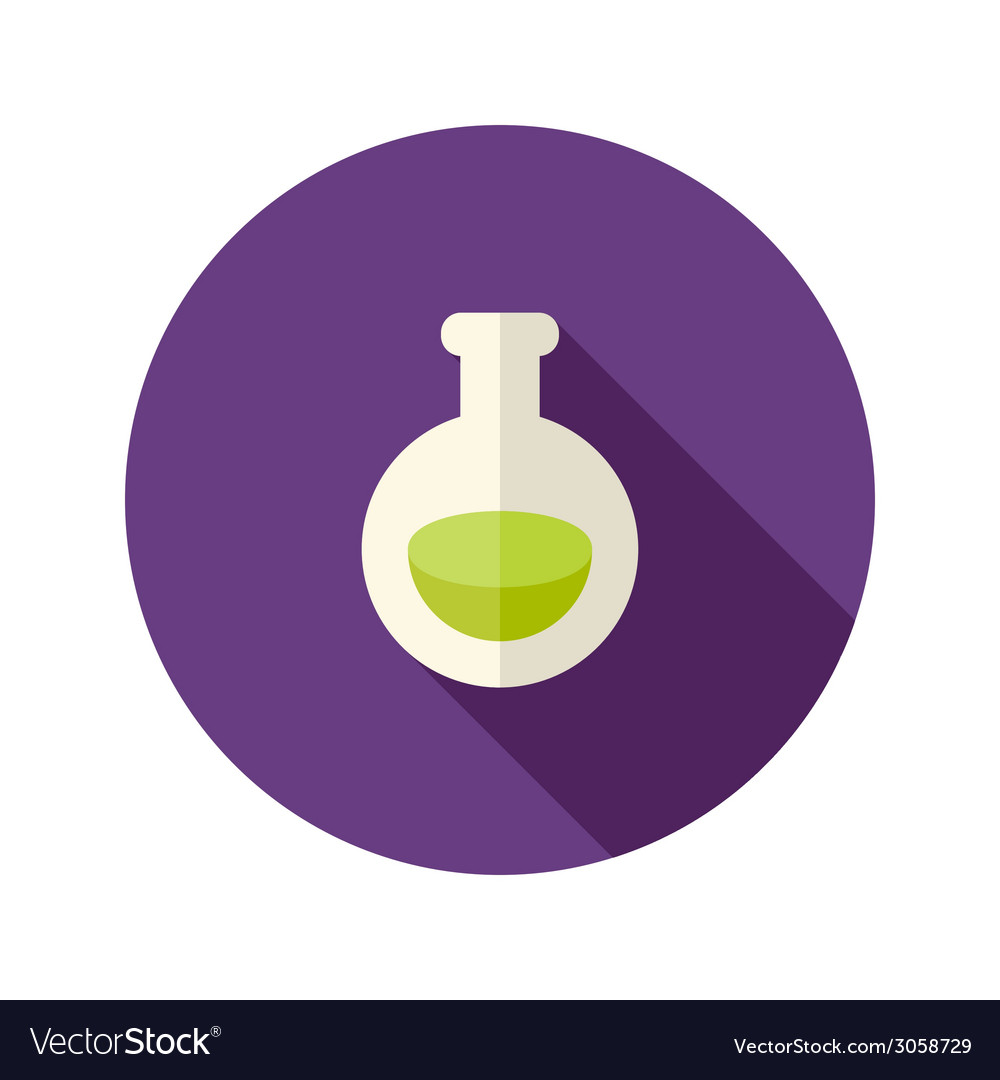 Halloween Potion Flat Icon vector image
