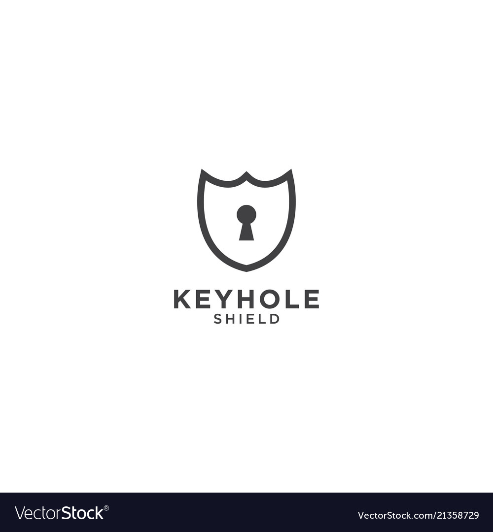 Keyhole and shield graphic design template