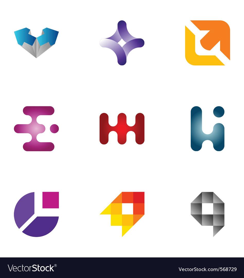 Logo design elements set 42 vector image