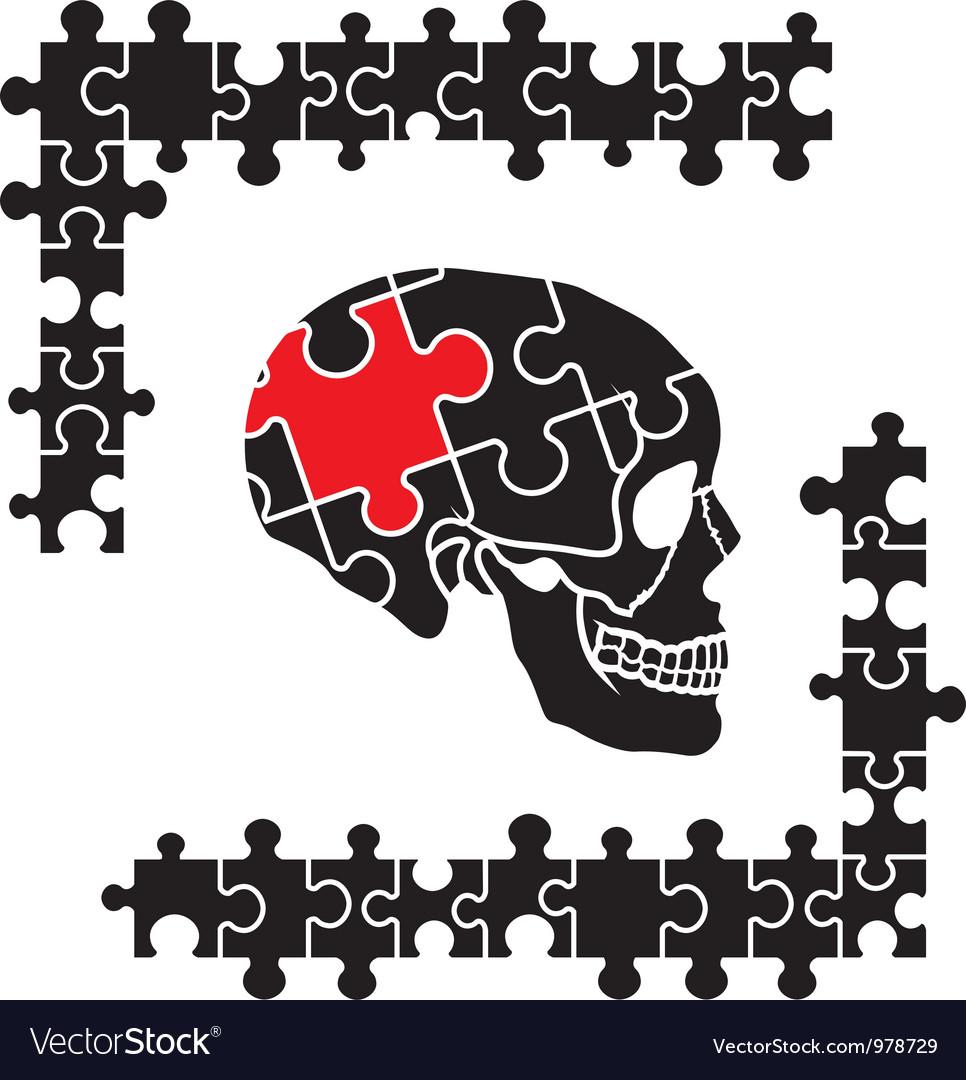 Puzzle skull